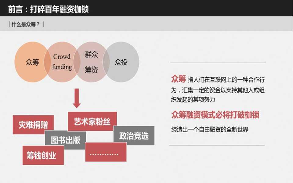 众筹平台项目商业计划书