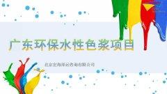 广东环保水性色浆项目融资计划书